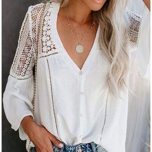 📌 BACK IN STOCK 4/10📌 Lace Crochet Bell Sleeve